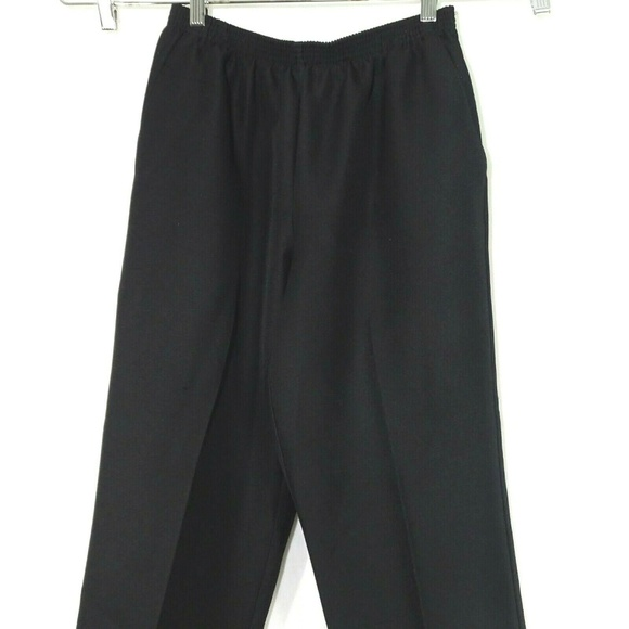 Alfred Dunner Pants - Alfred Dunner Pull-on Pants Women Size 12P Black